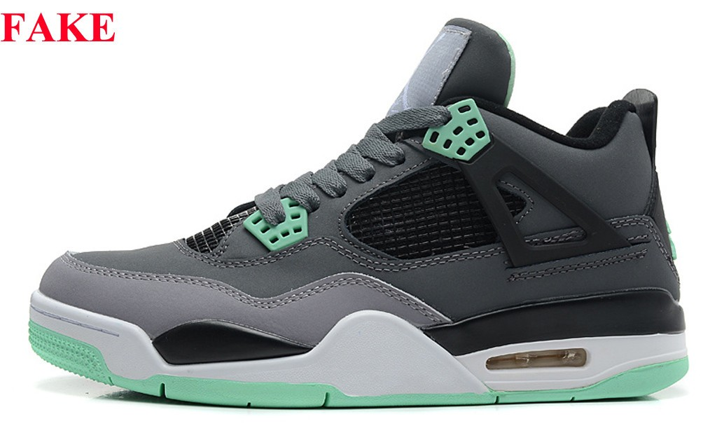 air-jordan-4-retro-green-glow-fake
