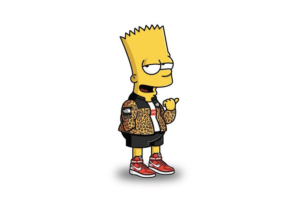 The-Simpsons-Illustrated-in-Streetwear-Bart-Simpson-Supreme