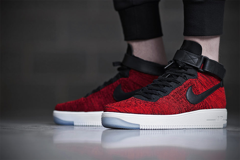 Nike Air Force 1 Ultra Flyknit Mid Red Black