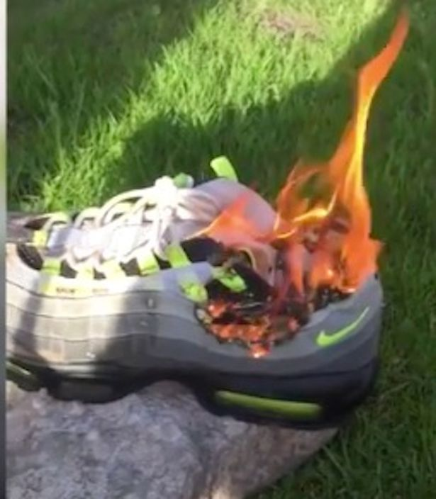 angry-girlfriend-sets-cheating-lovers-nike-110s-on-fire